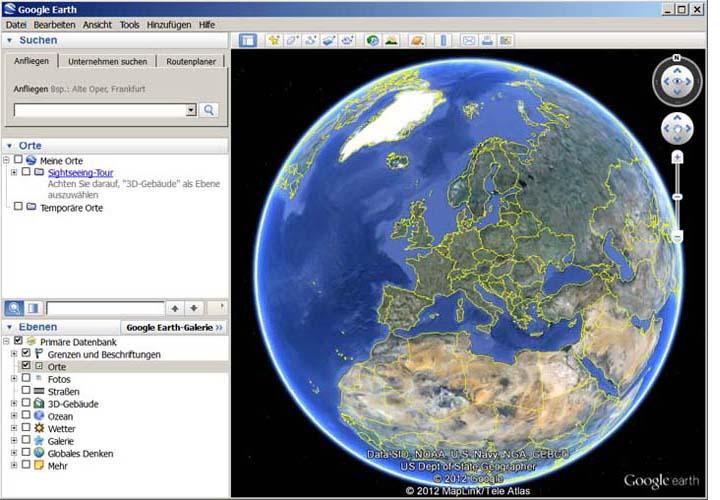 Avec Google Earth, voyagez aux quatre coins du monde en visualisant des images satellite, des cartes, des reliefs ou des bâtiments 3D, et partez à la découverte de galaxies lointaines et des profondeurs des océans. Explorez des contenus géographiques d'une richesse infinie, enregistrez vos voyages virtuels et partagez-les.